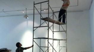 Steiger en 'worker' om museale opstelling te bereiken