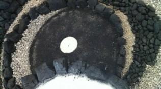 Cirkel in zwart